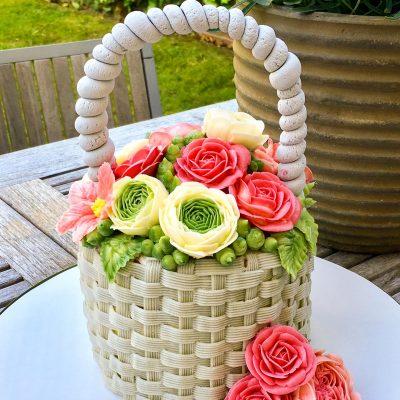 Buttercream Flower Basket Cake