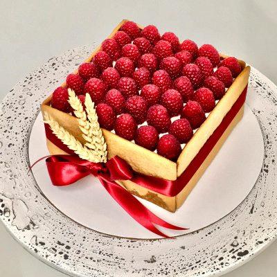 Raspberry Honey Cake
