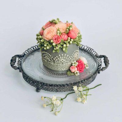 Victorian Buttercream Flower Cake